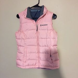 Pastel pink free country vest